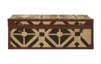 Aztec Coffee Table Trunk Black & Natural Print