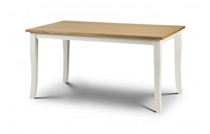 Davenport Oak/White Dining Table