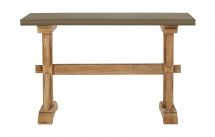 Pompeii Console Table Wooden Cement Look