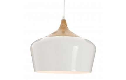 Blayne Pendant Light Metal / Wood White
