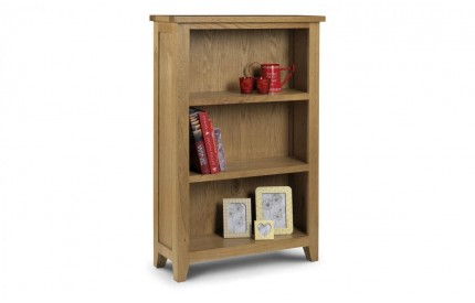 Astoria Solid Oak Low Bookcase Assembled