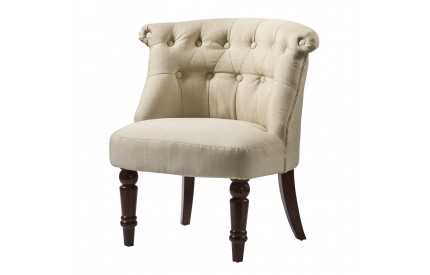 Contemporary Fabric Chair Beige