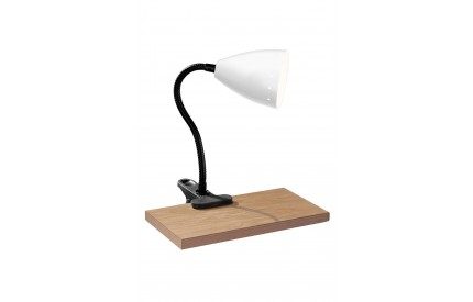 Flexi Desk Lamp Clip White