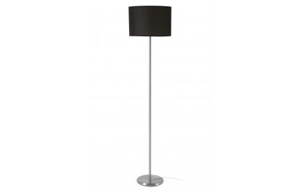 Forma Floor Lamp Chrome Effect Black Waffle Effect Shade