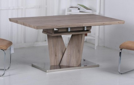 Lia Walnut Extending Dining Table Steel Base