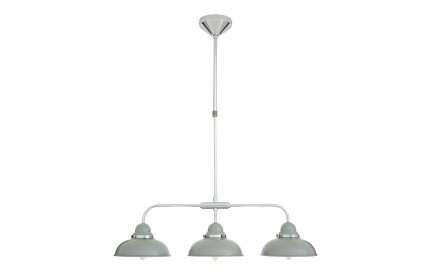 Martino Pendant Light 3 Shades Light Grey/Chrome