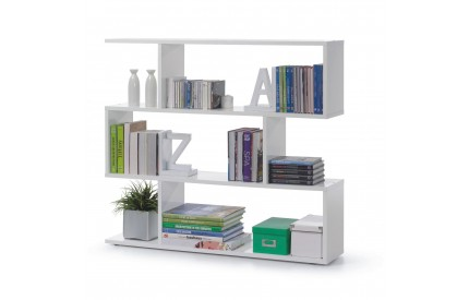 Pacific Bookcase Wide High Shine White