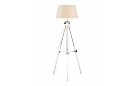 Bailey Floor Lamp White / Tripod