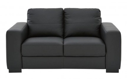 Lena Leather 2 Seater Black