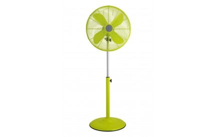 Adjustable Floor Standing Fan Lime Green