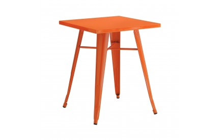 Cuboid Table Metal Orange Powder Coated