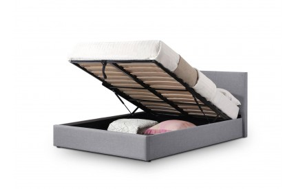 Rialto Lift-Up Grey Fabric Storage Ottoman Bed