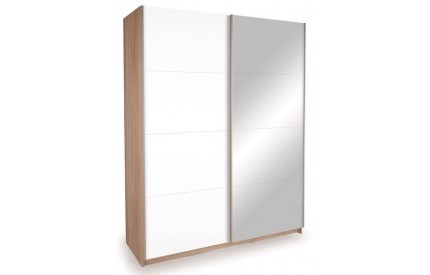 Vermont Oak Slide 1 Mirror + 1 High Gloss White