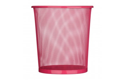Waste Paper Basket Hot Pink Mesh