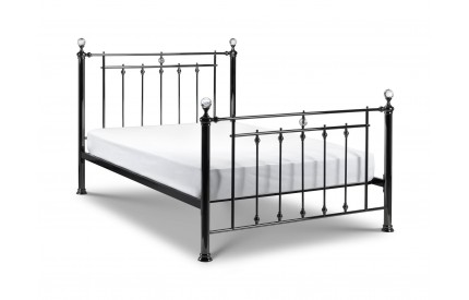 Marquis Black Nickel & Crystal Bed