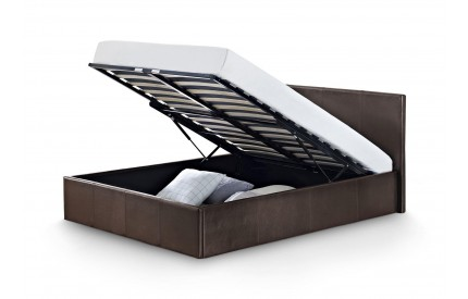 Cosmo Lift-Up Storage Leather Bed