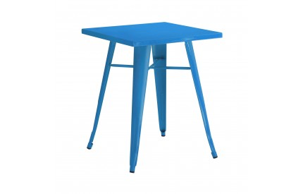 Cuboid Table Metal Blue Powder Coated