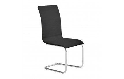 Dining Chair Black Chrome