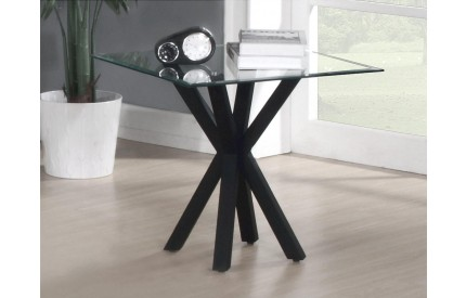 Primary Crossed Base Gloss Lamp Table Black