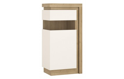 Lyon Narrow Display Cabinet (LH) 120cm White Gloss