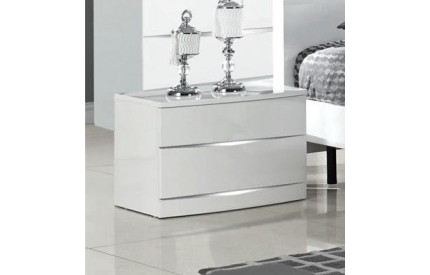 Lenton/Whitney White High Gloss Bedside