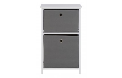Lindo Cabinet 2 Grey Fabric Drawers