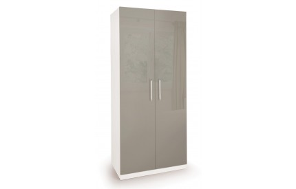 Bailey High Gloss 2 Door Wardrobe