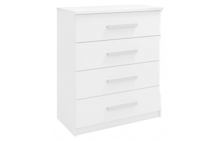 Span 4 Drawer Chest High Gloss White