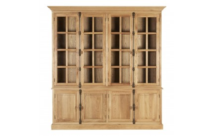 Martins Cabinet Aged Grey American Oak 6 Upper Shelves