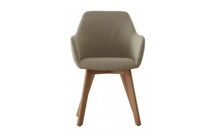 Stockholm Chair Stone Fabric Beech Wood Legs