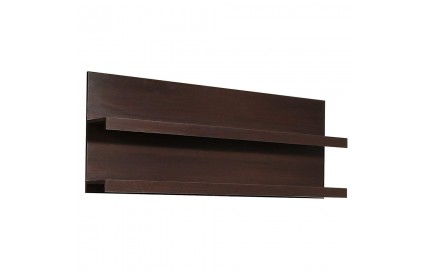 Pello 166cm Wide Wall Shelf Mahogany