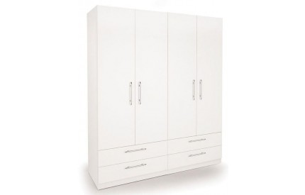 Arrow 4 Door 4 Drawer Wardrobe