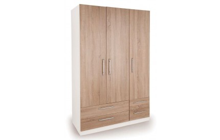Huston 3 Door 4 Drawer Wardrobe