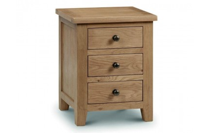 Marlborough 3 Drawer Bedside Assembled