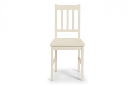 Cameo Stone White Ivory Cream Wooden Chair