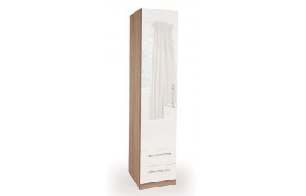 Moore High Gloss 1 Door 2 Drawer Wardrobe