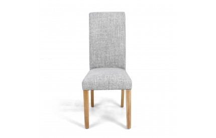 Karta Scroll Back Flax Effect Grey Weave Dining Chair