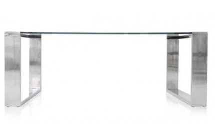 Glass Coffee Table Stainless Steel Legs