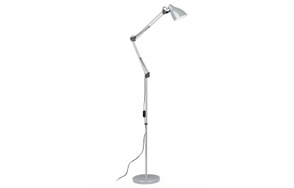 Floor Lamp Adjustable Grey Metal