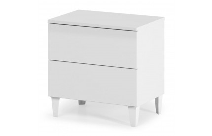 Pacific Chest 2 Drawer High Shine White