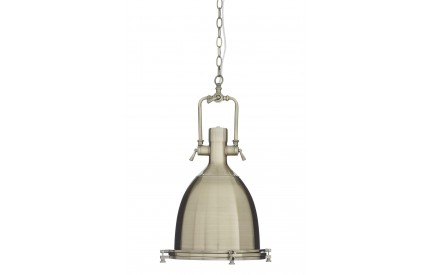 Lexwork Pendant Light Antique Brass/Glass Large