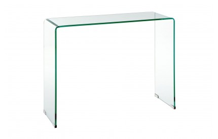 Matrix Console Table Clear Bent Glass