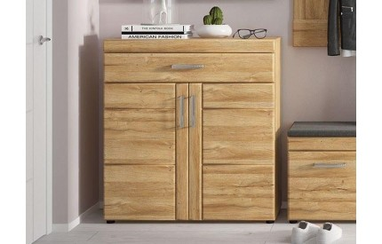 Cortina 2 Door Show Cabinet Oak