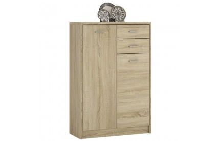4 You Tall 2 Door 2 Drawer Cupboard in Sonama Oak