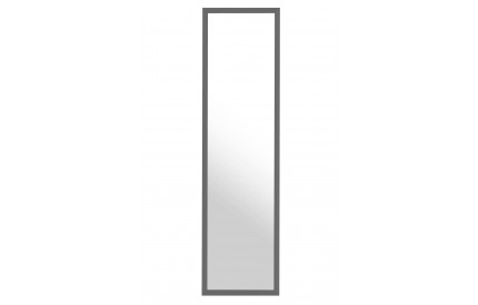 Over Door Mirror Grey Plastic Frame