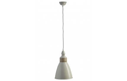 Norway Pendant Light Iron / Wood White