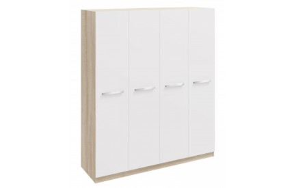 Momo 4 Door Wardrobe White