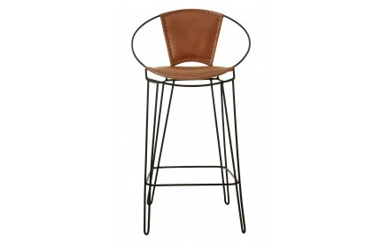 Bullworth Chair Light Brown Leather Iron