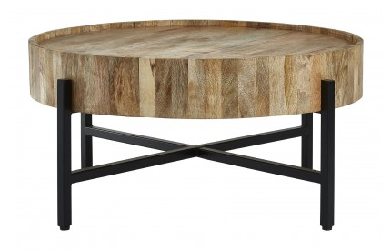Moonlight Coffee Table Mango Wood Black Legs
