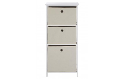 Lindo Cabinet 3 Natural Fabric Drawers